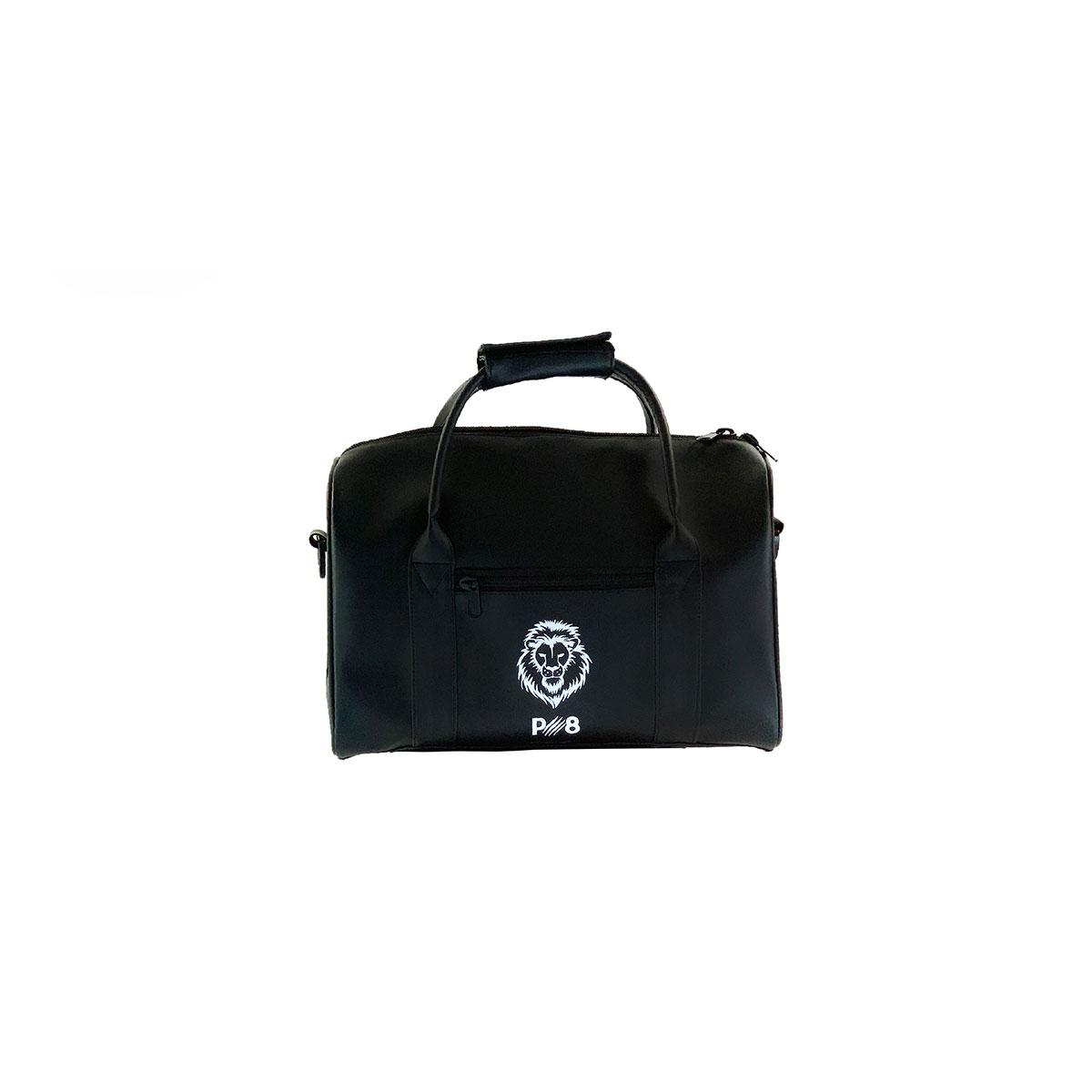 Leather Weekend Holdall Bag  - Black