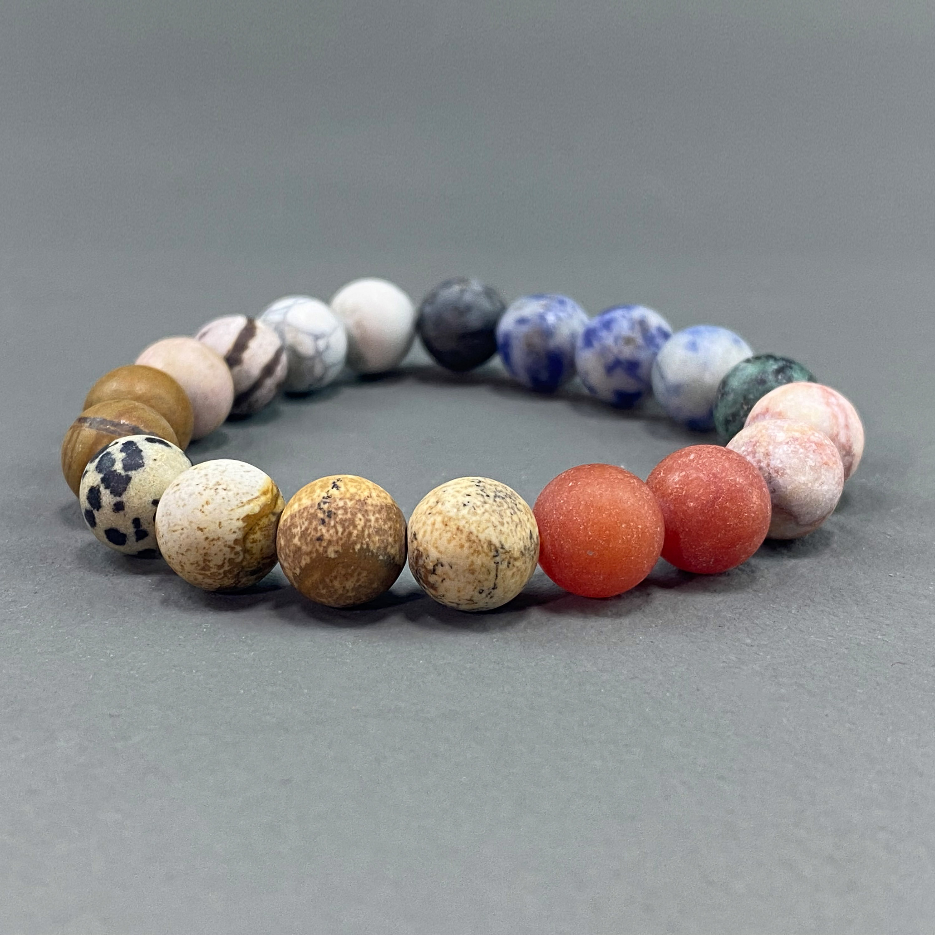 stone beads - colorful