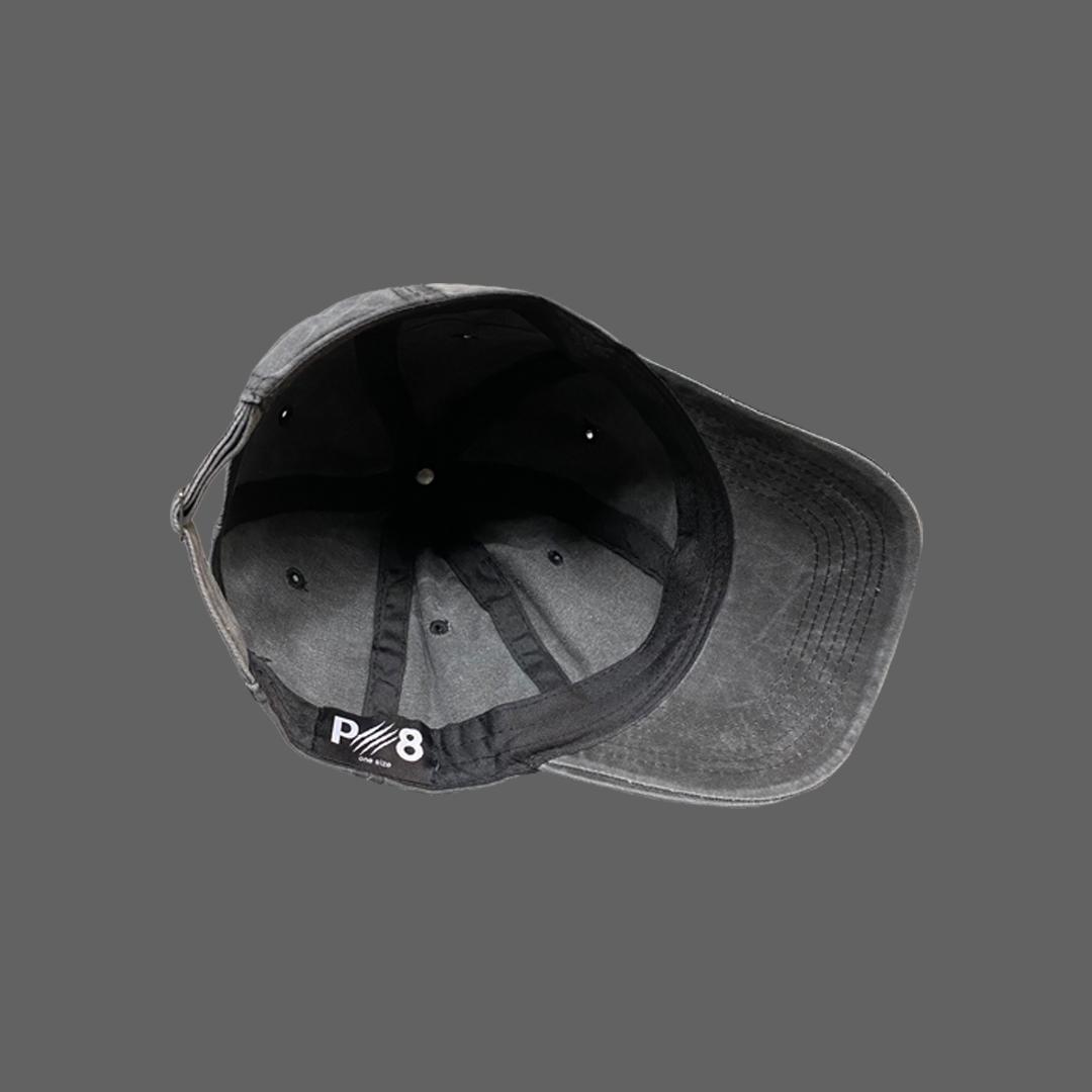 WASHED BASEBALL HAT - Dark grey