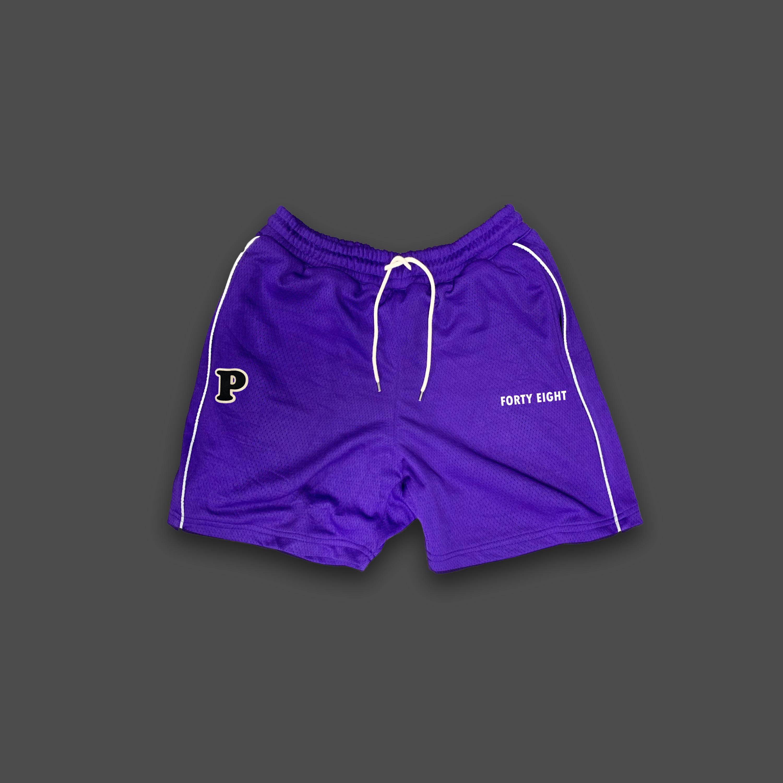 BASKET BALL MESH SHORTS - Purple