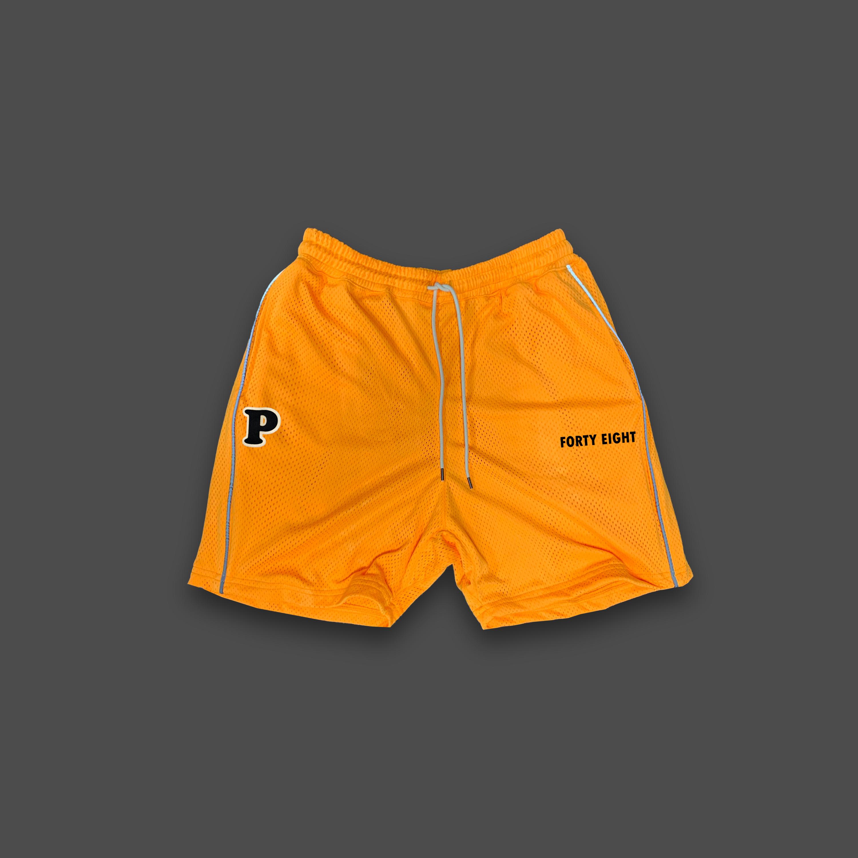BASKET BALL MESH SHORTS - Orange
