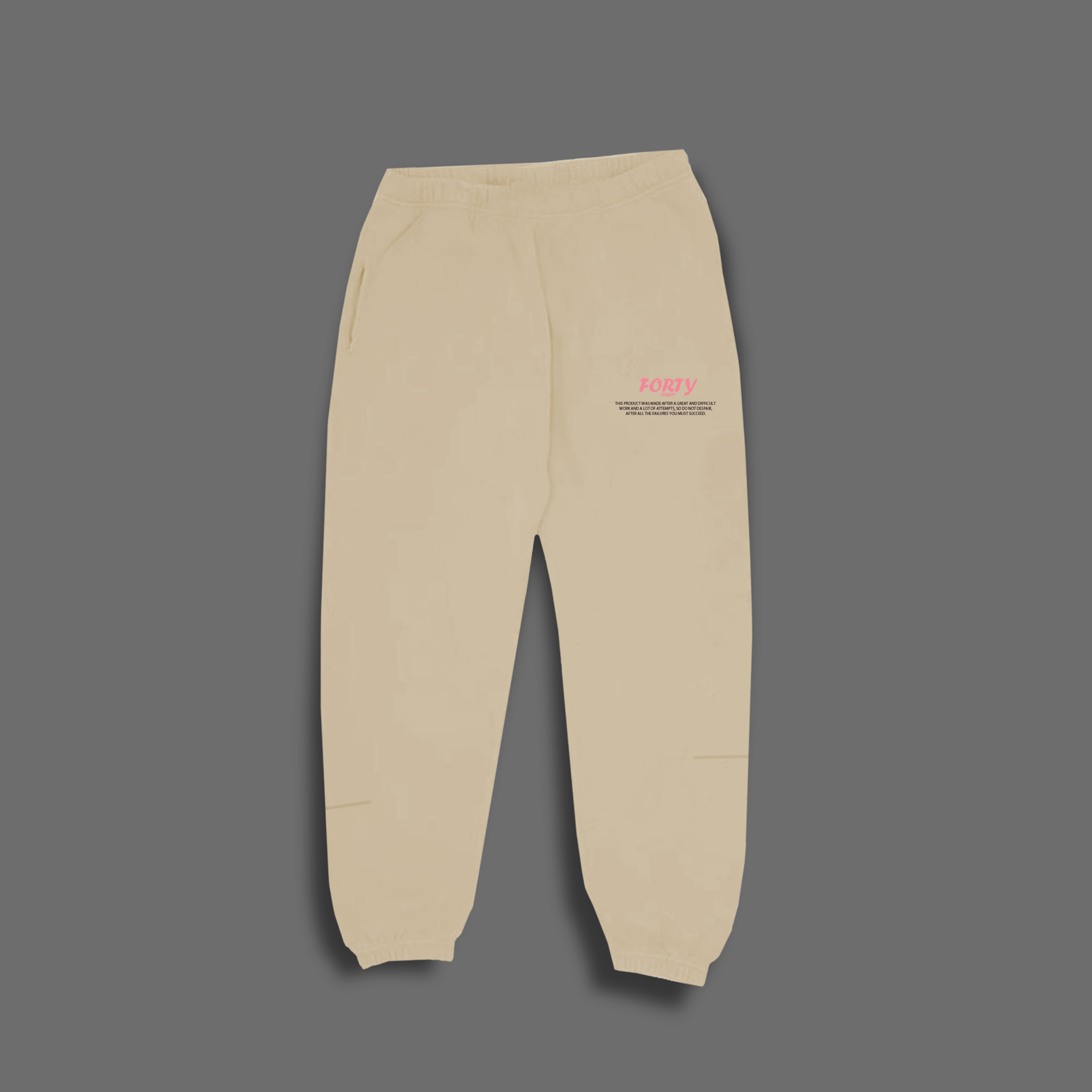 Beige sweat set - Beige