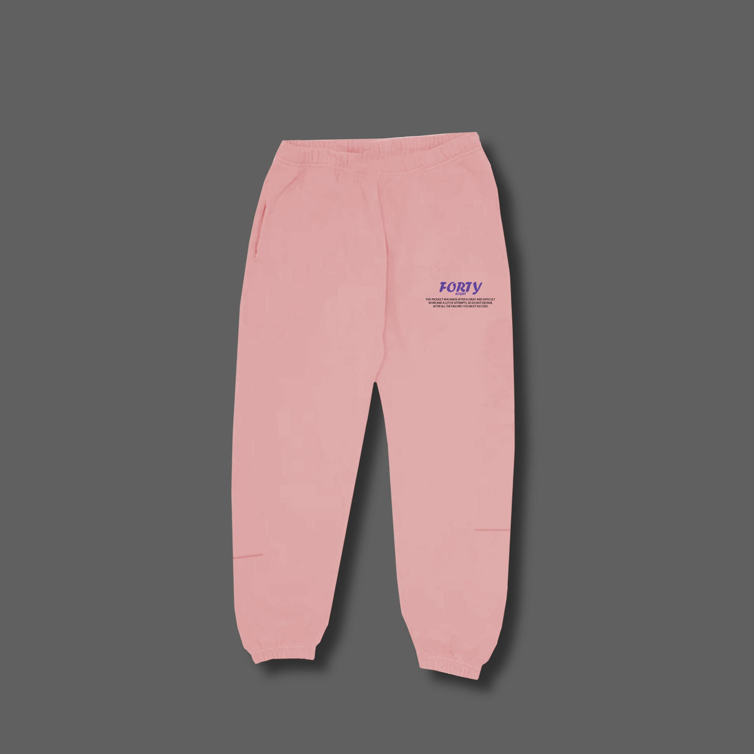 Pink sweat set - Pink