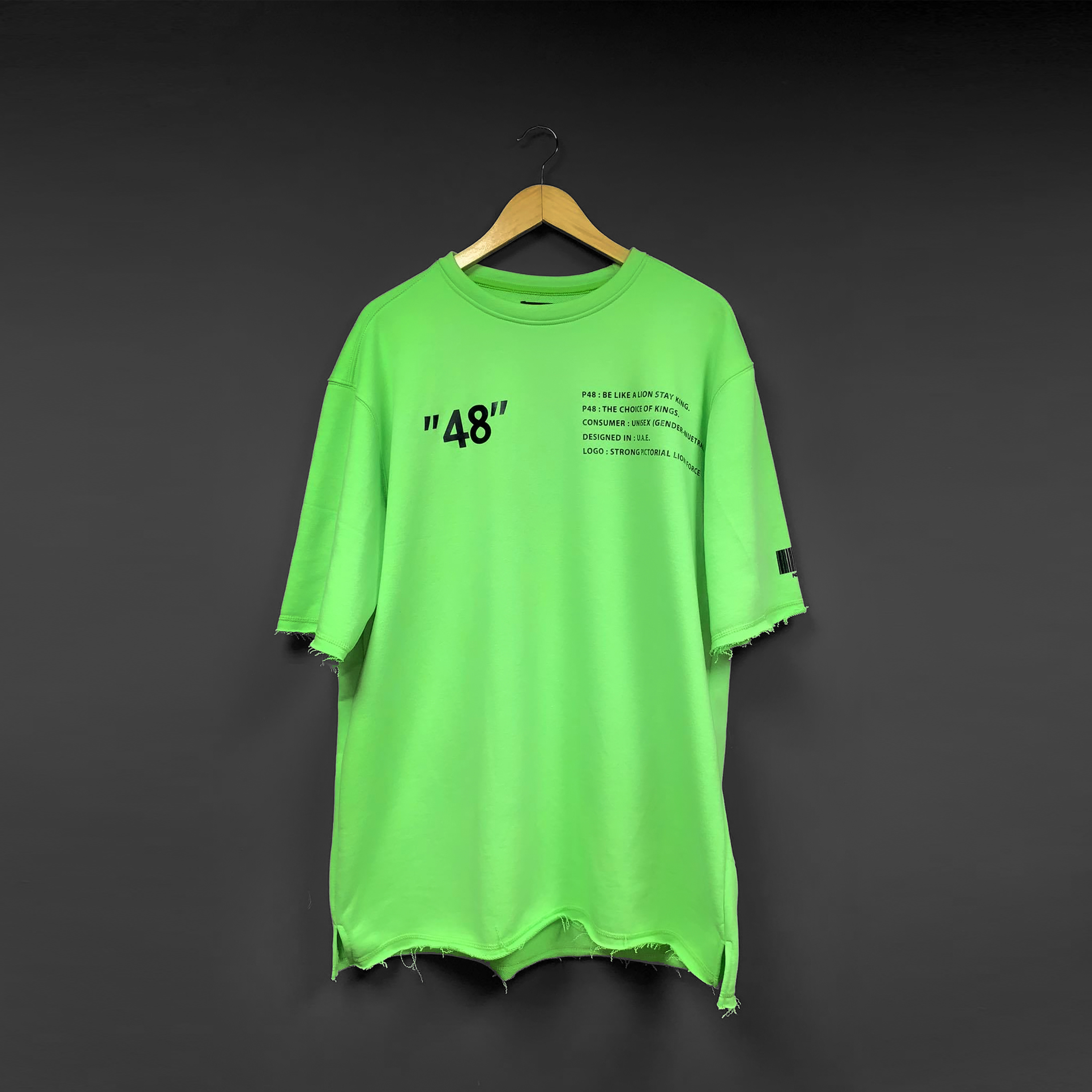 Pastel Green P48 Oversized T-shirt - Green