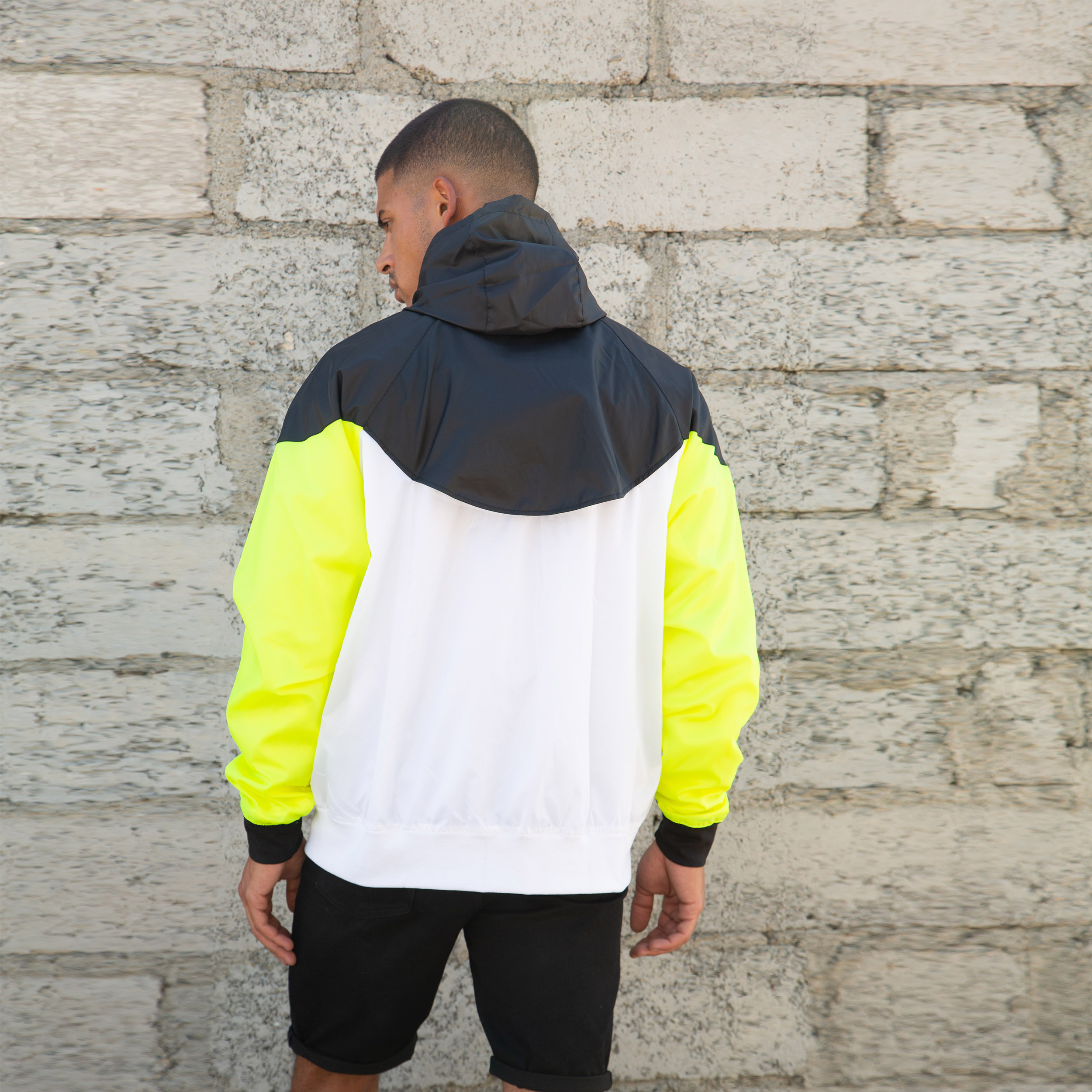 Stay king waterproof jacket - Neon Black White